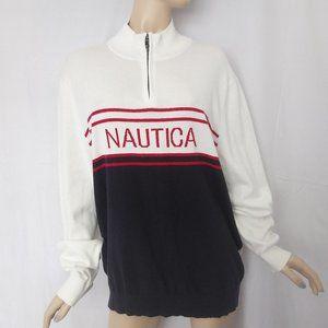 Nwt $98 NAUTICA Men Pullover Sweater XL 100%Cotton